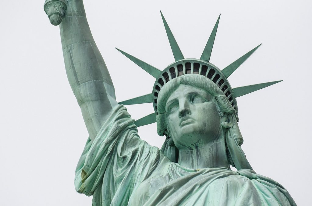 statue of liberty, landmark, close