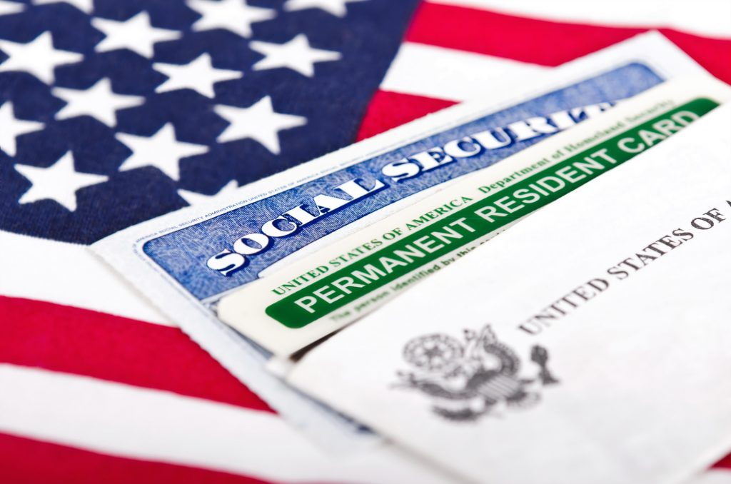 permanent resident card in the USA